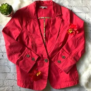 CAbi Geranium Poppy Toss On Blazer
